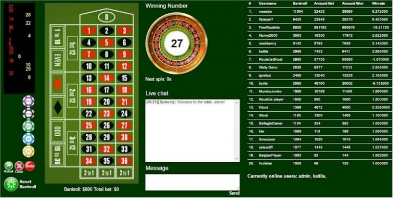 Roulette Gratis – Play Free Roulette