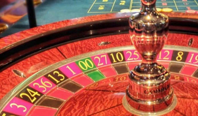 Layout of roulette wheel