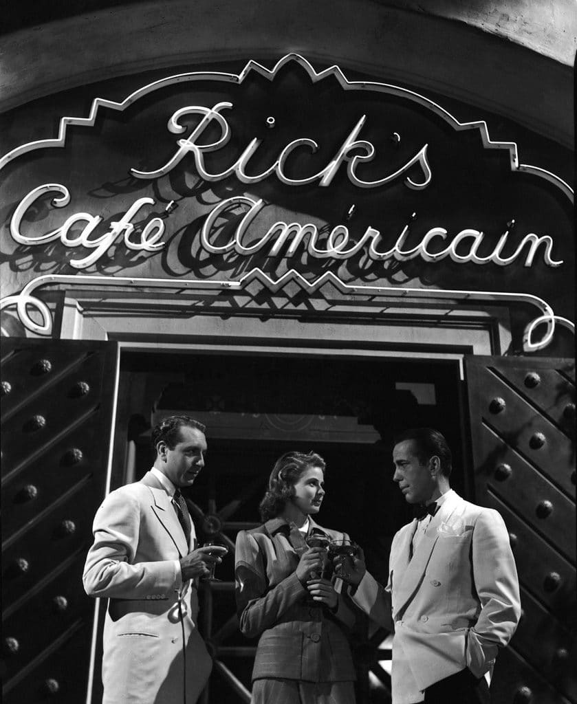Rick's Café roulette scene.