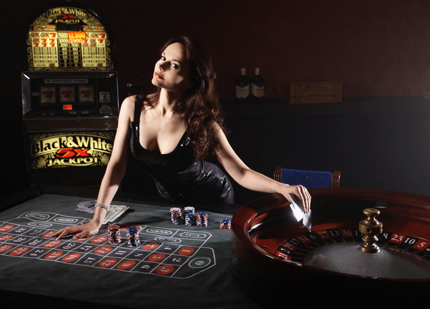 Sexy roulette dealer