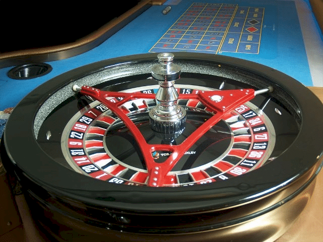 Triangle level for roulette wheels