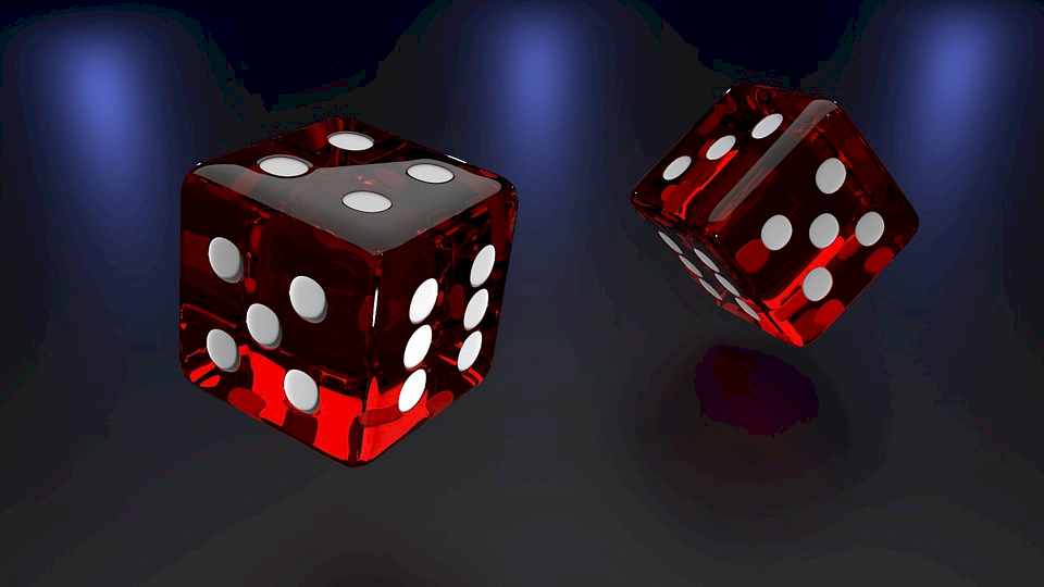 Two dice for craps game