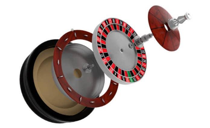 Insides of roulette wheel
